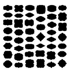 Silhouette frame and label mega set EPS 8 vector image