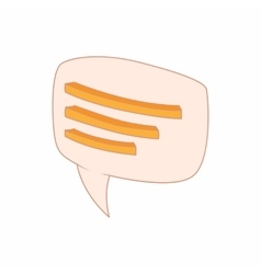 Speech bubble icon cartoon style vector image