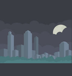 Stylized panorama of the city buildings vector
