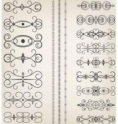 Vintage Floral Filigree Design Element vector image vector image