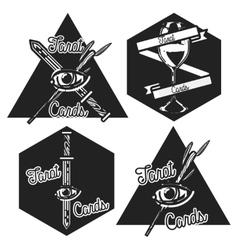 Vintage taro cards emblems vector image