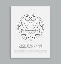 Sacred geometry spiritual shape vector