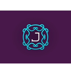 Compact monogram or icon design template with vector