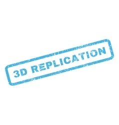 3d replication rubber stamp vector