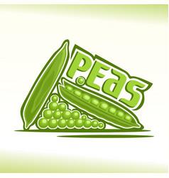 Peas still life vector
