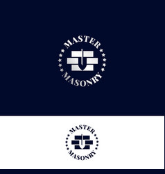 Logo for masonry master vector