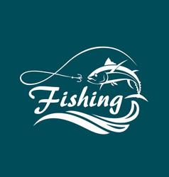 Fishing sport emblem vector