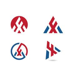 A letter icon logo template vector