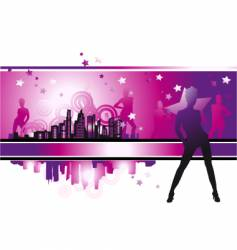 Cityscape urban frame fashion girls vector