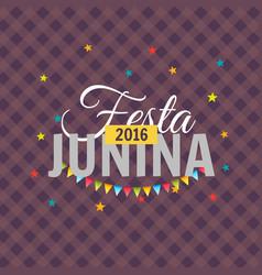 2016 festa junina background vector