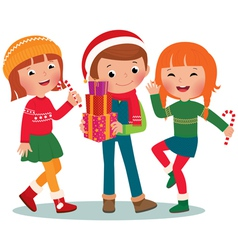Children christmas party vector