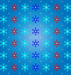 Snow and snowflake on blue pattern background vector