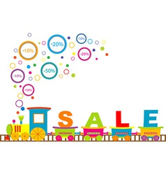 Sale train vector