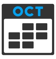 October flat icon vector