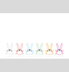 Set of six colorful easter bunnies 2 vector
