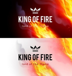 Fire flames effect vector