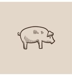 Pig sketch icon vector image