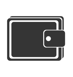 Black and white man wallet graphic vector