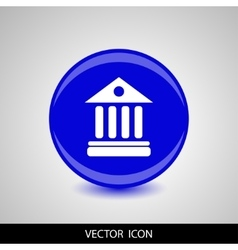 University icon isolated on blue background vector