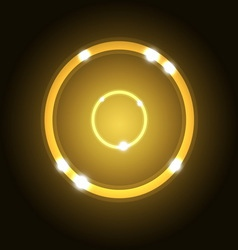 Abstract background with gold circle vector