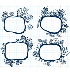 abstract frames vector image