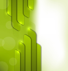 Abstract green background trendy colorful card vector