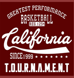 basketball california vector image