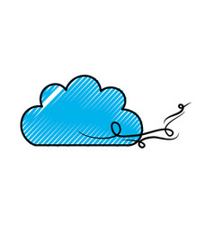Beautiful fantasy cloud with wind vector