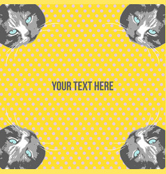 cats face cartoon seamless animal frame vector image vector image