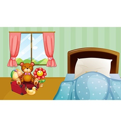 Children bedroom vector image vector image