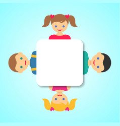 Children friends vector