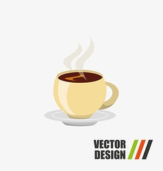 coffee time icon design vector image vector image