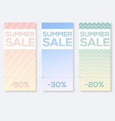Collect Sale Signs with Tear-off Coupon vector image