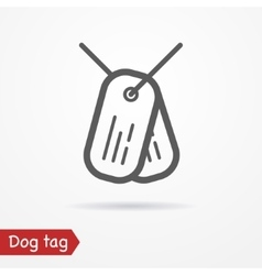 Dog tag icon vector