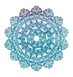 Elegant lacy watercolor doily crochet mandala vector