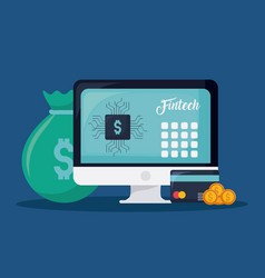 financial internet technology concept vector image