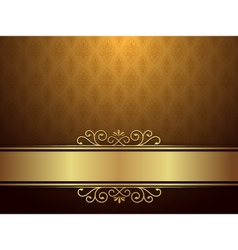 Golden Background With Luxury Design vector image vector image