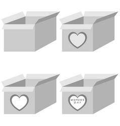 grey present box four items vector image