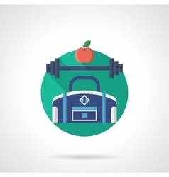 Gym detailed flat color icon vector