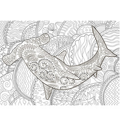 hammerhead with high details vector image