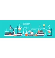 Laboratory Chemical research vector image