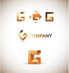 Letter g logo icon set vector image