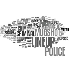 Lineup word cloud concept vector