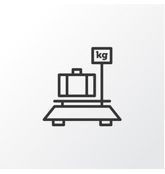 Luggage weight icon symbol premium quality vector