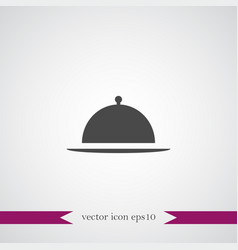 meal tray icon simple vector image vector image