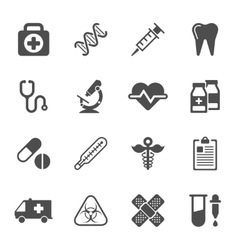 Medical icons on white background vector