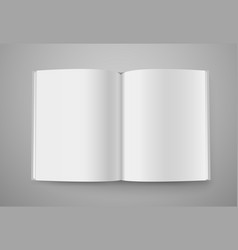 Open book mockup ready for a content vector