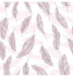 Tender Feather Pattern vector image vector image