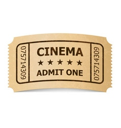 ticket cinema icon 02 01 vector image