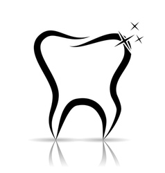 Tooth as a dental symbol vector